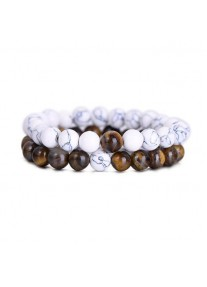 Beaded Treasure Natural Stone Couples' Bracelet Set Tiger's Eye