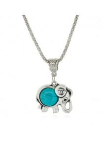 Boldly Boho Tibetan Silver Ellie Necklace with Round Turquoise Centre Stone