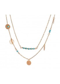 Boldly Boho Multi Layer Necklace Gold - Coins