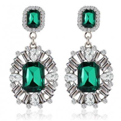 Boldly Glam Emerald Green Crystal earrings