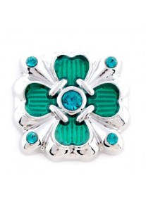 Crystal snap Art deco Flower Square - Green