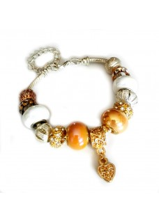 Gemmabella European Charm Bracelet - Golden Moments