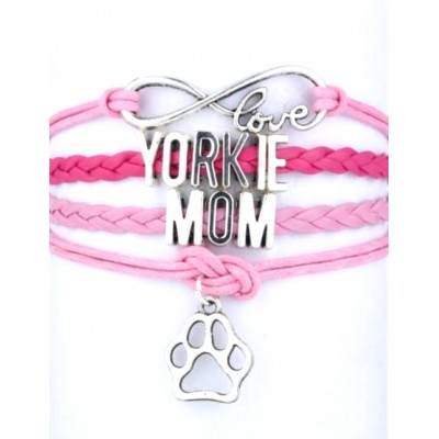 Infinity Bracelet Fur Baby with Paw - Yorkie Mom