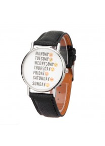 On Time Emoticon watch - Black