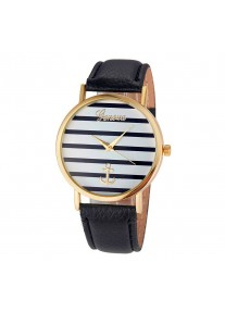 Geneva Nautical Stripes Anchor watch - Black