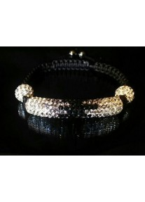 Shamballa Essence Crystal Bracelet Colour: Jet gradient
