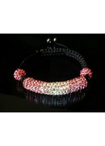 Shamballa Essence Crystal Bracelet Colour: Pink gradient