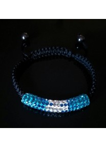 Shamballa Essence Crystal Bracelet Colour: Aquamarine gradient