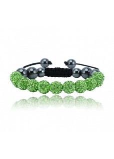 Shamballa Shimmer Crystal Bracelet Colour: Green