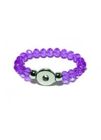 Snap Creations Faceted Glass Beaded Stretch Bracelet -  Purple