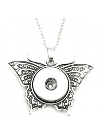 Snap necklace for 18mm snaps with chain - Butterfly