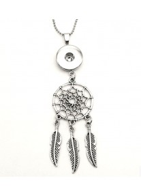 Snap necklace for 18mm snaps with chain - Dream Catcher