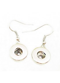 Snap Earrings 12mm  Silver Plated Set including 4 x 12mm snaps