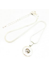 Snap Necklace 12mm  Silver Plated Set including 2 x Snaps