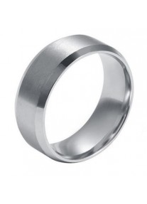 URBAN MAN Stainless Steel Polished Ring - silver