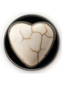 Chic Snap Marbled Heart Black