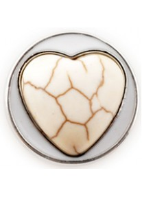 Chic Snap Marbled Heart White